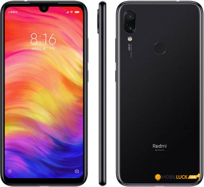 Смартфон Xiaomi Redmi Note 7 4/64GB Space Black *UA