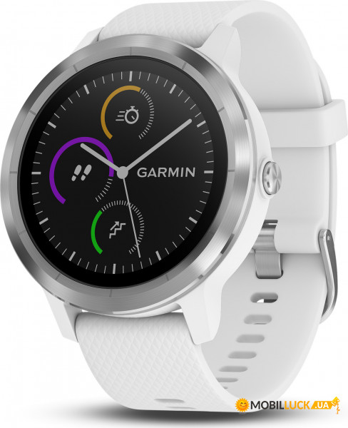 Смарт-часы Garmin Vivoactive 3 White with Stainless Hardware (010-01769-22)