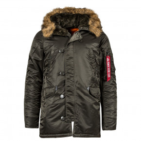 Куртка Alpha Industries Slim Fit N3b Parka XS Темно-серый