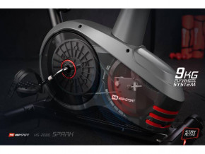 Велотренажер Hop-Sport HS-2080 Spark Gray/Red 2018 12