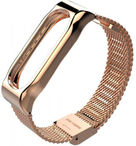 Ремешок UWatch Metallic Strap Fleet Chain For Mi Band 2 Rose Gold