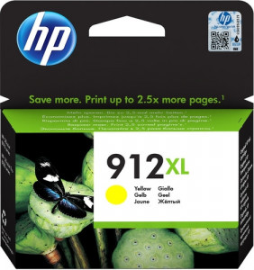 Картридж HP 912XL High Yield Yellow Original Ink Cartridge (3YL83AE)