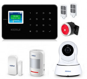 Комплект сигнализации Kerui security G18 с видео Wi-Fi IP камерой black