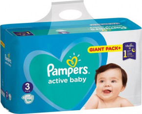 Подгузники Pampers Active Baby 3 (6-10 кг) Giant Pack 104 шт (950215)