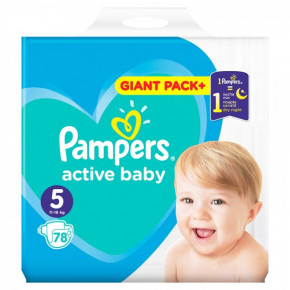 Подгузники Pampers Active Baby 5 Junior (11-16 кг) Mega Pack 78 шт (950536)