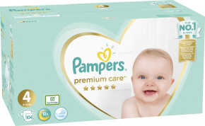 Подгузники Pampers Premium Care 4 (8-14 кг) 104 шт 465447