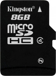 Карта памяти Kingston microSDHC class 4 8Gb