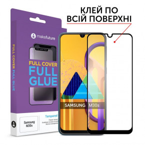 Защитное стекло MakeFuture Samsung Galaxy M30s SM-M307 Black Full Glue, 0.33 mm (MGF-SM30S)