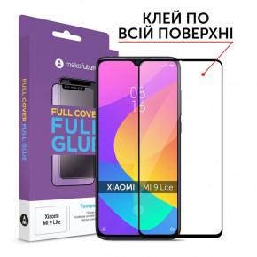 Защитное стекло MakeFuture Xiaomi Mi 9 Lite Full Cover Full Glue, 0.33 mm (MGF-XM9L)