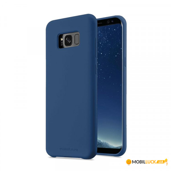 Чехол-накладка MakeFuture Silicone для Samsung Galaxy S8 SM-G950 Blue (MCS-SS8BL)