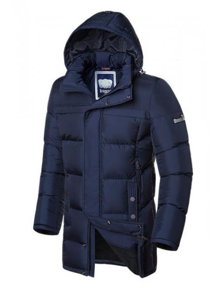 Длинная куртка на меху Braggart 1826 48 (M) темно-синий