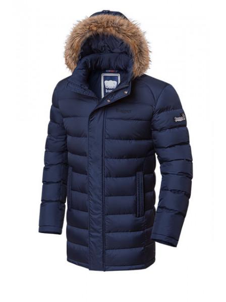 Длинная куртка Braggart 3172 48 (M) темно-синий