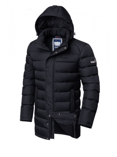 Длинная куртка на меху Braggart 4672 50 (L) черный