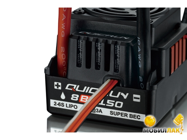Влагозащищённый б/к регулятор хода Hobby Wing QUICKRUN WP-8BL150 150A для автомоделей (HW30105151001)