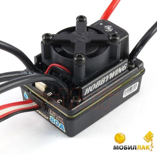 Влагозащищённый бесколлекторный регулятор хода Hobby Wing Ezrun WP 80A SL для автомоделей (HW81010390) (HW81010390)