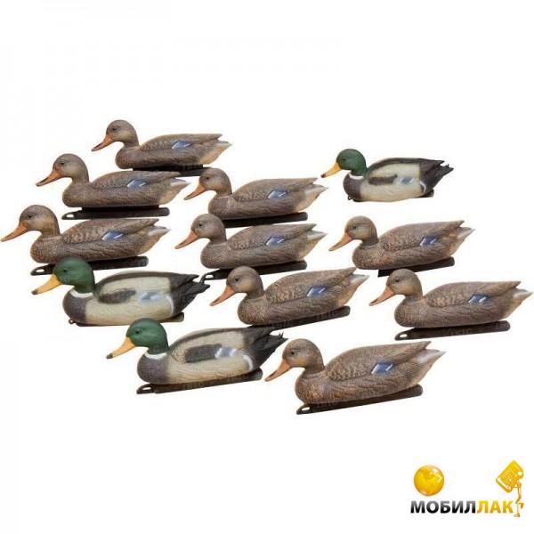 Набор Hunting Birdland 3 селезня, 9 уток, якорные устройства (K7212)