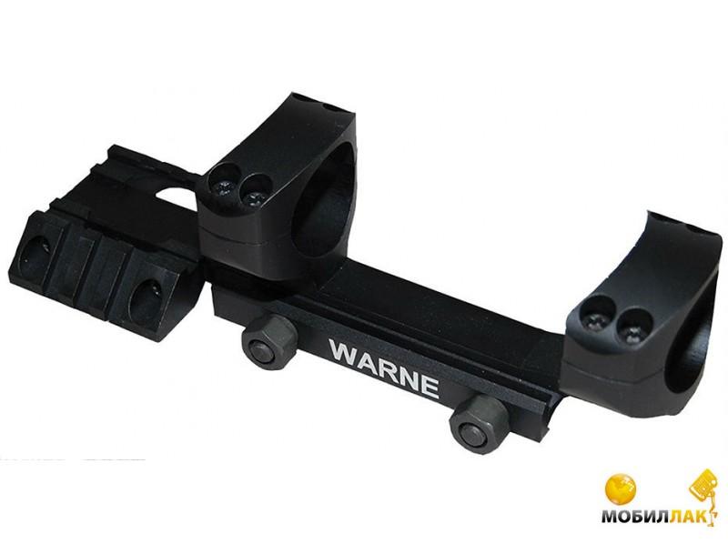 Крепление Warne R.A.M.P. МОНО, 30мм, боковой вивер 45 град, черный