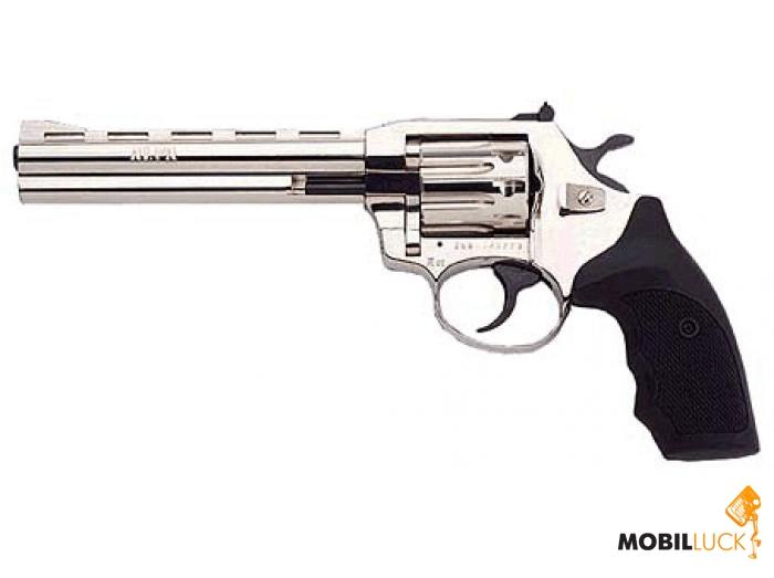 Револьвер под патрон Флобера Alfa мод 461 6 никель, пластик