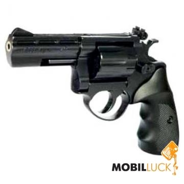 Револьвер под патрон Флобера Cuno Melcher ME 38 Magnum 4R черный, пластиковая рукоятка 241109