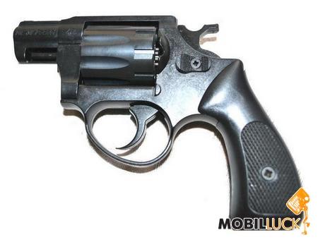 Револьвер под патрон Флобера Cuno Melcher ME 38 Pocket 4R черный, пластиковая рукоятка 240109