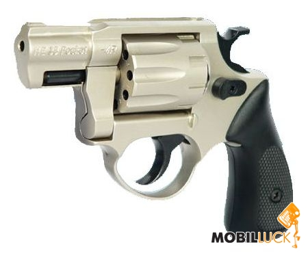 Револьвер под патрон Флобера Cuno Melcher ME 38 Pocket 4R никель, пластиковая рукоятка 240189