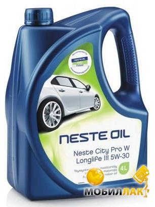 Масло синтетическое Neste City Pro W Longlife III 5W30 4л