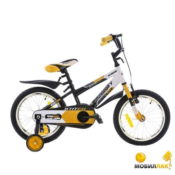 Велосипед Azimut Stitch Premium 16 Желто-бело-черный (101071)