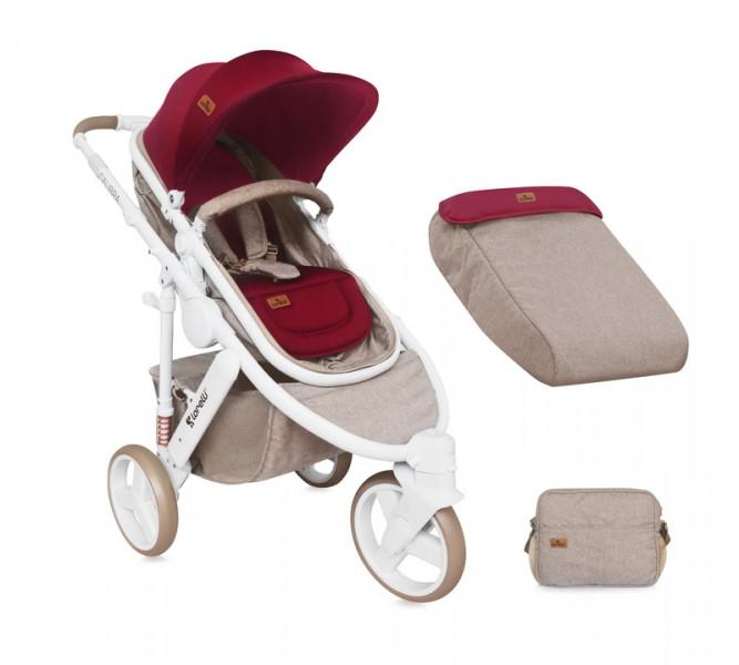 Универсальная коляска-трансформер Bertoni Calibra 3 Beige Red (10020781742)
