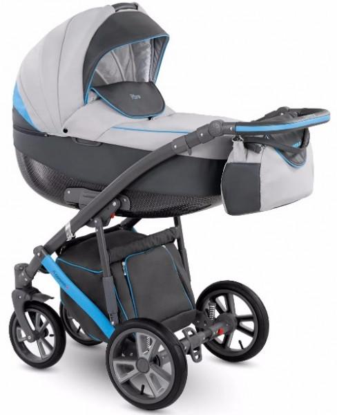 Универсальная коляска Camarelo Piro 08 Серо-голубая