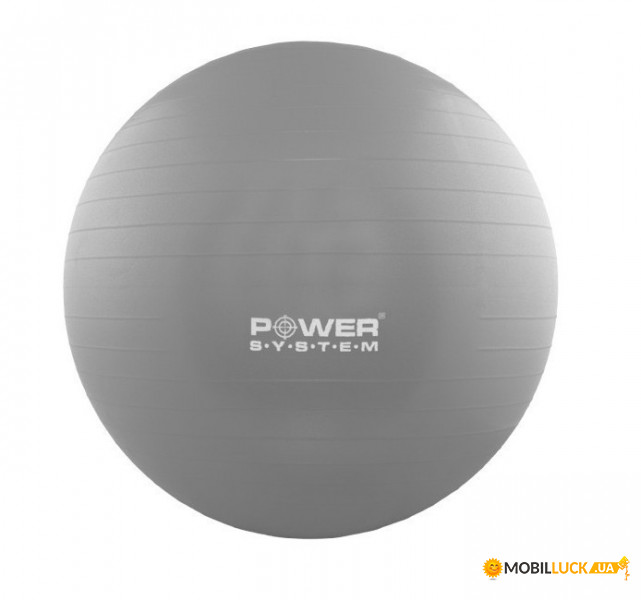Мяч для фитнеса и гимнастики Power System PS-4018 85 см Grey