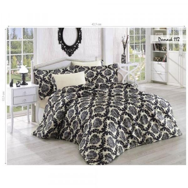 Комплект постельного белья Issihome Damask 112 двуспальный Евро (m013138)