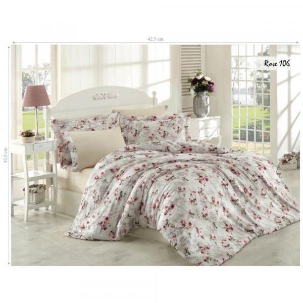 Комплект постельного белья Issihome Rose 106 двуспальный Евро (m013132)