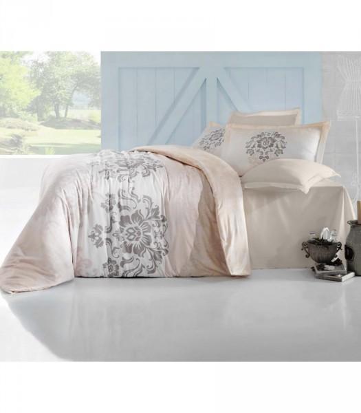 Комплект постельного белья Altinbasak Сатин люкс 200x220 Ilma krem (m012061)