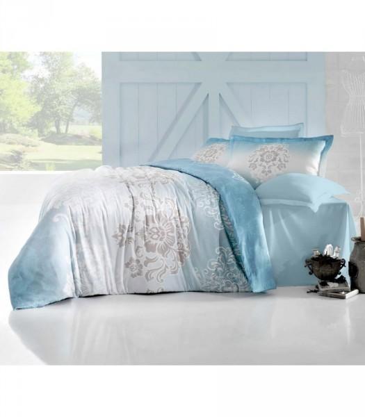 Комплект постельного белья Altinbasak Сатин люкс 200x220 Ilma mavi (m012062)