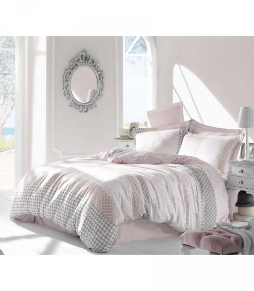 Комплект постельного белья Altinbasak Сатин люкс 200x220 Risha pembe (m012070)