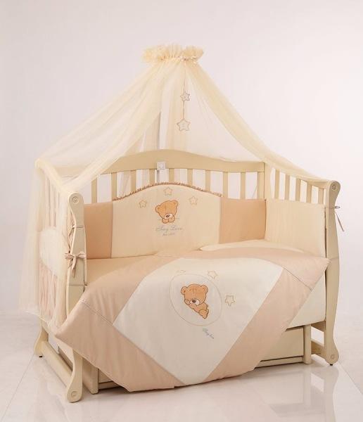 Детское постельное белье Маленькая Соня Tiny Love шоколадный 7 пр (10101)