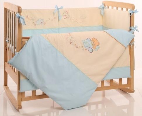 Детское постельное белье Маленькая Соня Детские мечты авиатор голубой 6 пр (21007)