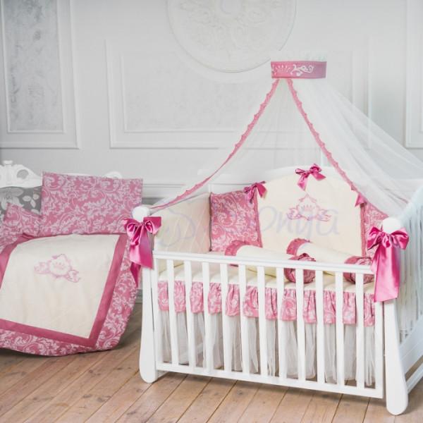 Комплект детского постельного белья Маленькая Соня Mon bell Lcollection брусничный (22251)