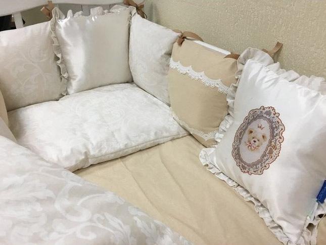 Комплект детского постельного белья Маленькая Соня Mon Cheri кофейный (22541)
