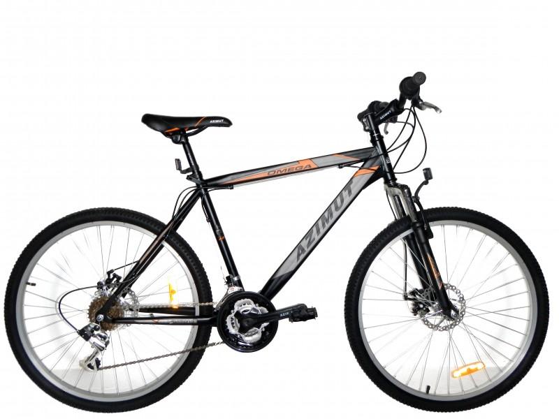 Велосипед горный Azimut Omega 26 D New 2016 Черный