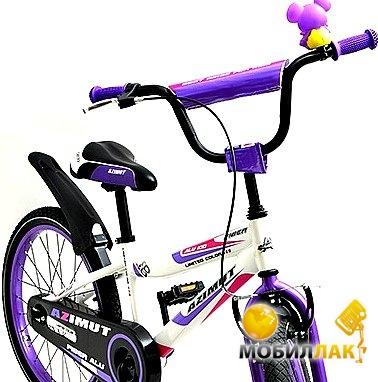 Велосипед Azimut Fiber 18 Бело-сиреневый