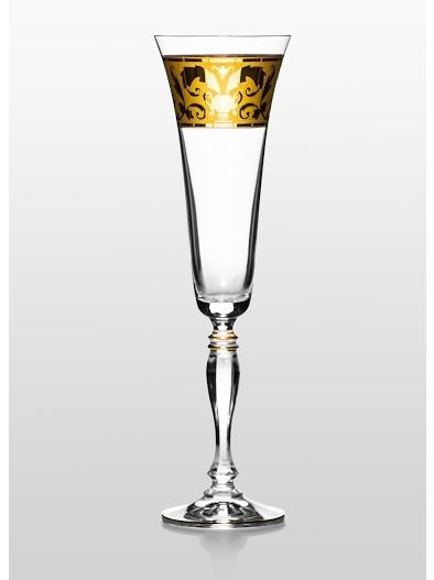 Набор бокалов для шампанского Bohemia Victoria (Rene золото) (02-03-180-6-013)