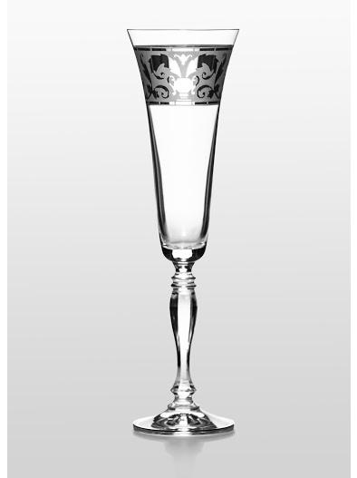 Набор бокалов для шампанского Bohemia Victoria (Rene платина) (02-03-180-6-014)