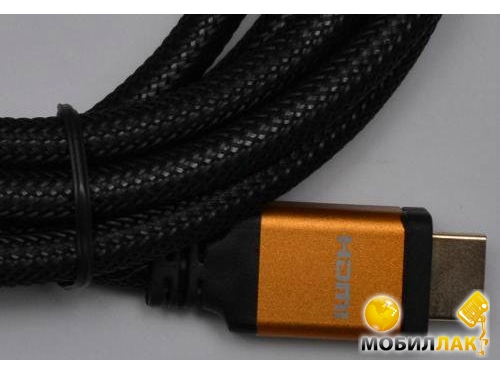 Кабель ATcom HDMI-HDMI 1.0m HIGH speed Metal gold Blister