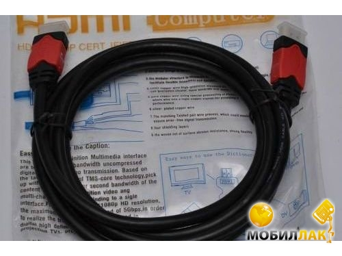 Кабель ATcom HDMI-HDMI 1.0m VER 1.4 for 3D Red /Gold Blister