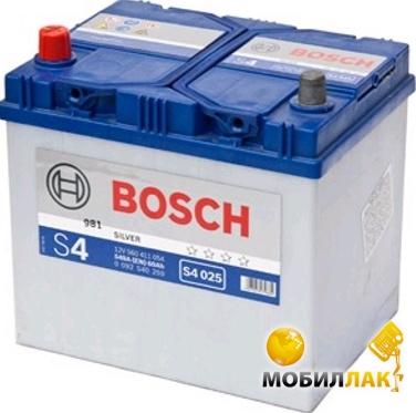 Аккумулятор автомобильный Bosch S4 Silver S4025 12v L EN540 60Ah Asia