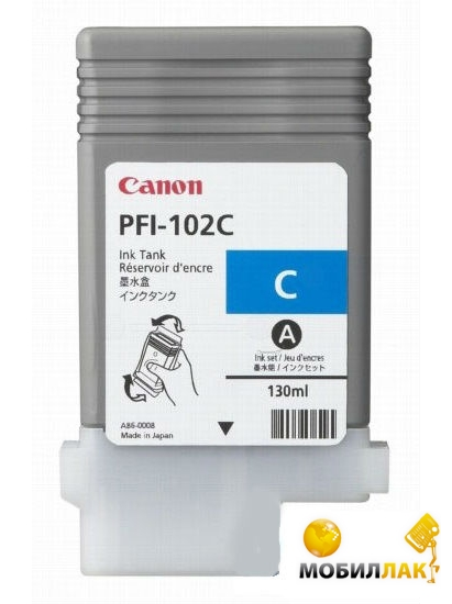 Картридж струйный Canon PFI-102C для Canon iPF500/600/700 Cyan