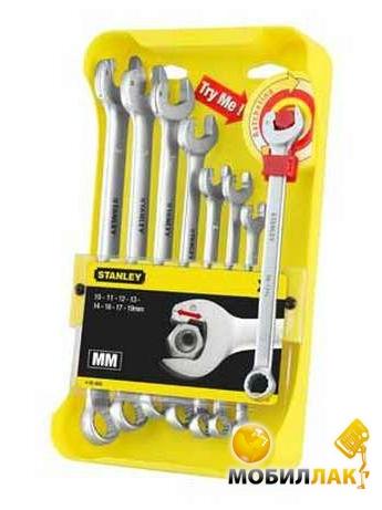 Набор ключей гаечных комбинированных Stanley Ratcheting Wrench 4-95-660 8 предметов