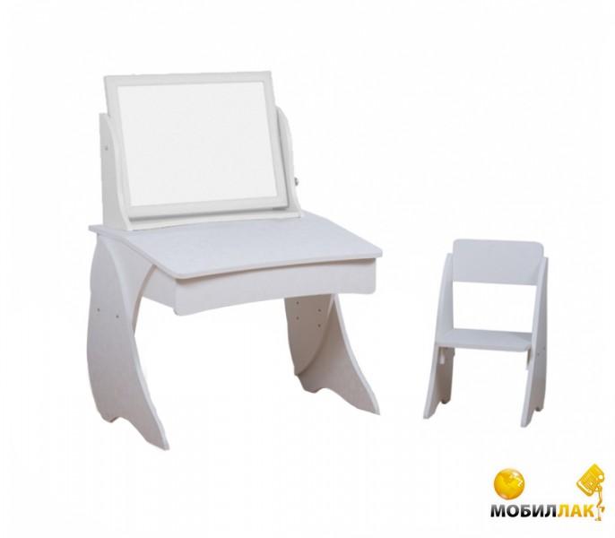 Парта со стульчиком и мольбертом Вальтер-С Умница (именео светлый, белый)