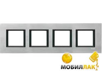 Рамка 4-постовая Schneider Electric Unica Class серебристый алюминий (MGU68.008.7A1)